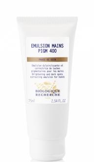 Émulsion Mains PIGM 400. 75ml. Biologique Recherche.